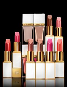 Shimmering nudes and splashes of hot color—TOM FORD's new Lip Color Sheer and Nail Lacquer shades for Spring.