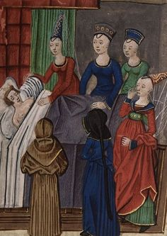 Death of queen Isabella from BL Royal 20 C IX, f. 96 by Jean Chartier, 1475 - 1499. The British Library, Public Domain