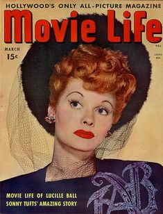 Lucy on the Cover of Movie Life - 1944
