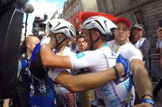 Marcel Kittel & Julian Alaphilippe winner of stage 4 and the white jersey