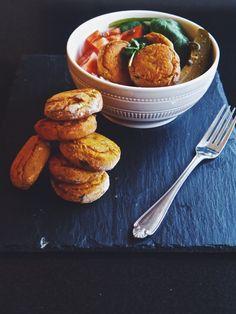 Baked Sweet Potato Falafel