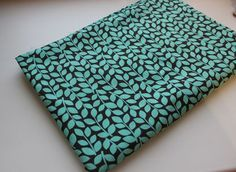 Print katoenweefsel Blue leaves door meter 150x100cm