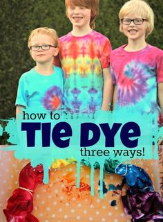 "Now that the weather is warming up, get your kids outside and plan a fun day of tie dying! This is a creative activity for kids that results in an awesome t-shirt they can wear year-round and be really proud of. Start by purchasing a Tulip One Step Tie Dye Kit and gather a plastic ""shoebox"" bin, a 100% cotton white t-shirt, zip-top bags, and a black permanent marker. Be sure to wash the shirt with detergent to remove any chemicals on the fabric before beginning. Visit eBay for all the steps!"