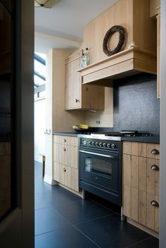 Prachtig zo'n houten keuken