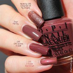 Pantone's Colour of Marsala. Product Roundup for Dark Skin Marsala Nagellack Opi Nail Colors, Pretty Nail Colors, Pink Nail Polish, Fall Nail Colors, Hair Colors, Trendy Nails, Cute Nails, Colors For Dark Skin, Opi Nails