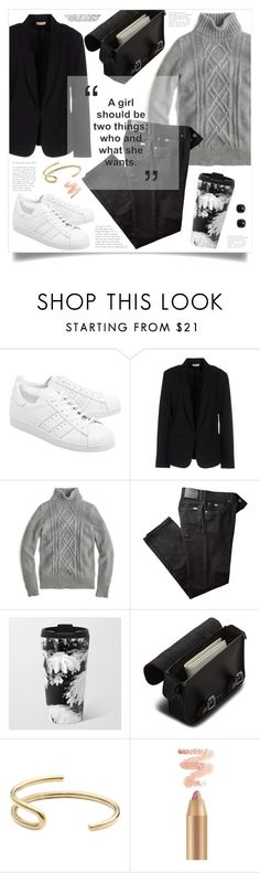 """""""OOTD - White Sneakers"""" by by-jwp ❤ liked on Polyvore featuring adidas Originals, Maesta, J.Crew, BRAX, Dr. Martens and Fay Andrada"""