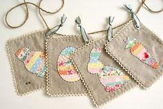 A Fabric Easter Basket And Easter Bunting Tutorial - Heart Handmade uk