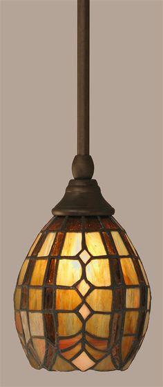 Toltec Lighting - Stem Mini Pendant in Bronze finish