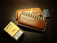 Сigarette holder Leather cigarette case Gifts by ArtLeatherDesign