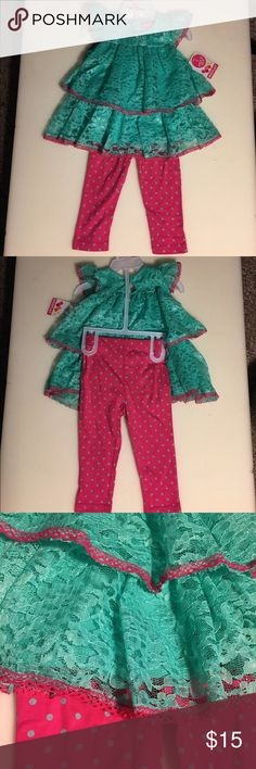 Toddler Outfit Brand New with tags! Beautiful lace! Matching Sets