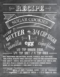 Sugar Cookie Recipe -- Love this beautiful design for a recipe
