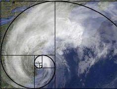 Hurricane Sandy in a perfect Fibonnaci spiral.