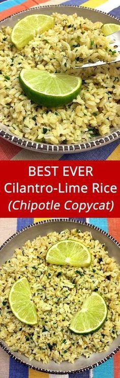 I love Chipotle cilantro-lime rice! This recipe is amazing!