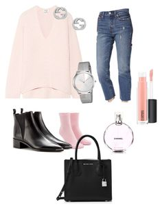 """Day look💕"" by pirjo-kivimaki on Polyvore featuring Acne Studios, Levi's, Forever 21, Calvin Klein, Gucci, Chanel, MICHAEL Michael Kors, MAC Cosmetics and pastel"