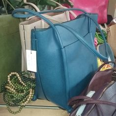 Pratten handbags with matching wooden beads @ Heel to Toe Sandgate 2016
