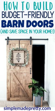 Amazing Sliding Barn Doors Hardware Budget-Friendly Barn Doors To Save Space In Your Home sliding Cheap Barn Door Hardware, Cheap Barn Doors, Interior Barn Door Hardware, Barn Doors For Sale, Interior Sliding Barn Doors, Sliding Door Hardware, Sliding Barn Door Hardware, Sliding Doors, Making Barn Doors