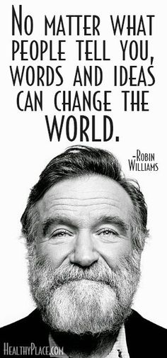 As both a dramatic actor and a comedian, Robin Williams tore your ticket, held the door and offered you a ride on the emotional roller coaster. #Inspiring #RobinWilliams