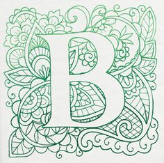 Craft delicate charm with this mehndi style alphabet! Alphabet Design, Alphabet Art, Letter Art, Doodle Patterns, Zentangle Patterns, Machine Embroidery Patterns, Embroidery Designs, Coloring Books, Coloring Pages