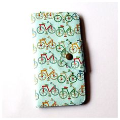Long Passport Wallet, Boarding Pass Case - I Like Bike!