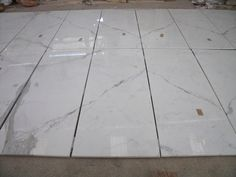 Statuario marble cut to size, book match flooring and # pieces
