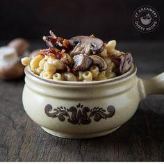 Stove-Top Bacon Mushroom Crème Fraîche Macaroni and Cheese
