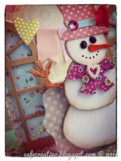 Snowman card pop up; Sizzix Big Shot, Pupazzo di neve