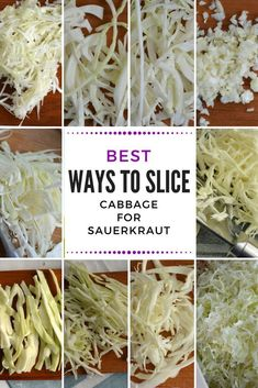 How to Slice Cabbage [Which is BEST for Perfect Sauerkraut?] How to cut cabbage into slices for evenly fermented sauerkraut that tastes WOW! Food processor – how? about MakeSauerkraut! Making Sauerkraut, Fermented Sauerkraut, Homemade Sauerkraut, Fermented Cabbage, Sauerkraut Recipes, Cabbage Recipes, Probiotic Foods, Fermented Foods, Vegetable Side Dishes