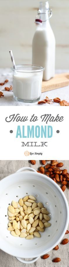 This recipe is so easy and tastes amazing-creamy and naturally-sweet, with a hint of vanilla flavor. Only four ingredients + a blender! That's all you need. Once you make almond milk you'll never go back to store-bought. http://livesimply.me/2015/06/16/how-to-make-almond-milk/