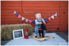 First Birthday Cake Smash Photos, Country Themed First Birthday