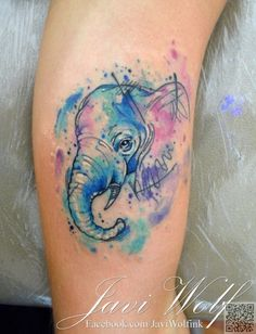 9. #Watercolor Sketch #Elephant - 28 Animal #Tattoos You've Got to See to Believe ... → #Lifestyle #Beautiful