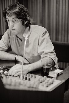 <3 LOVE THIS PICTURE!!! Paul in the Studio --- #paulmixing