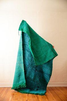 [SOLD] BLUE MOON vintage berber moroccan rug