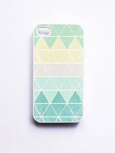iphone 4 Case Geometric 1 in Frost. $16.99, via Etsy.