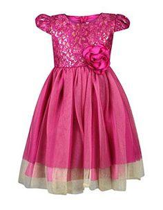 5630a720db2 Bonnie Jean Little Girls 2T-4T Sequin Lace Dress - Pink Party Dress