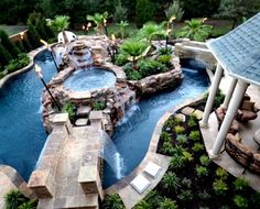32 Fascinating Lazy River Pool Ideas That Should You Make In Home Backyard, Basically, you've got to specify the type of pool you need and its usage. The pool will surely increase the ambiance of the backyard. You probably req. Lazy River Pool, Backyard Lazy River, Backyard Water Parks, Backyard Pool Landscaping, Backyard Pool Designs, Swimming Pools Backyard, Inground Pool Designs, Swimming Pool Designs, Luxury Swimming Pools