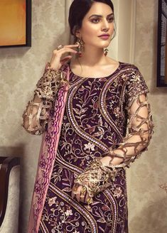 Newly Dresses designs for brides, Zebtan Royal Chiffon Collection a collection of three-piece Chiffon collection Startin, This suit is embroidered, Pakistani Salwar Kameez, Pakistani Designers, 3 Piece Suits, Pakistani Outfits, Wedding Wear, Dress Collection, Designer Dresses, Women Wear, Chiffon