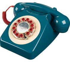 WILD & WOLF 746 Corded Phone - Petrol Blue