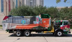 Houston's Garbage Trucks Get An Artistic Makeover To Promote Recycling