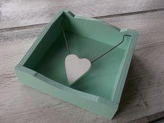 stojánek na malé ubrousky - zelená mint