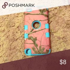 iPhone 5s case Only a few scuffs! Pink and blue camo! Accessories Phone Cases