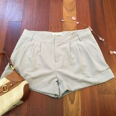 Steve Madden Grey Shorts Excellent condition, lightly used. I love these shorts! Super comfortable with a flattering fit. The color is a light grey. Steve Madden Shorts