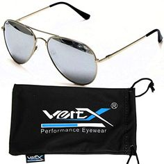2fd36b1785 VertX Mens Polarized Aviator Sunglasses Classic Teardrop Color Mirror w  Free Microfiber Pouch Mirror Lens -- Want to know more