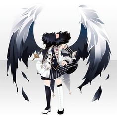 不敵に笑う堕天使のおたのしみ! Dress Drawing, Drawing Clothes, Chibi, Character Outfits, Character Art, Dress Anime, Pelo Anime, Fashion Design Drawings, Anime Hair
