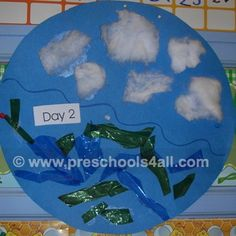 These open ended preschool bible crafts about the story of creation is simple and fun to do.