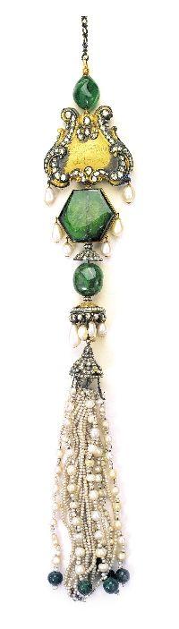 Topkapı Palace gold and pearl tassel treasure.