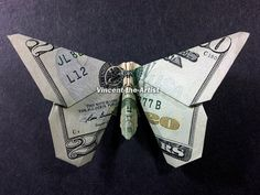 BUTTERFLY Dollar Origami - Made with $20 bill