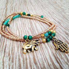 Hamsa bracelet set. Boho Jewelry. Friendship bracelet. Bracelet set, hamsa bracelet on Etsy, $16.15