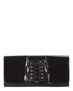 aa9445d8cdaa Le Corset Black Patent Handstrap Clutch