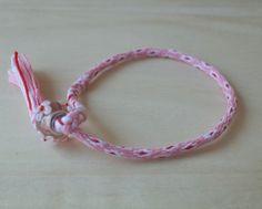 Kumihimo Bracelet 16 String Flower with Glass Bead, Friendship Bracelet, Misanga, Cord Bracelet, String Bracelet, Cotton Cord, Kids Bracelet by Takemotoya on Etsy
