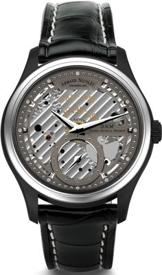 Armand Nicolet Small Second -Limited Edition- Limited Edition Watches, Crown, Luxury Shop, Luxury Watches For Men, Stainless Steel Case, Leather, Stuff To Buy, Black, Swiss Watch